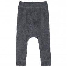 Joha strik bukser i 100% merinould. Koksgrå.