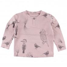Fixoni bluse i økologisk bomuld. Rosa m-print.