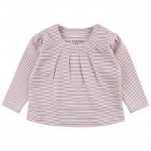 Fixoni baby bluse. Stribet rosa og råhvid.