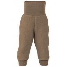 Engel baby fleece bukser i 100% merinould. Walnut Melange