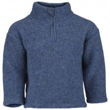 Engel fleece sweater m-lynlås i 100% merinould. Blå.