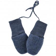 Engel baby fleece luffer i 100% merinould. Blå.