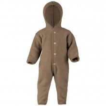 Engel barnevognsdragt med hætte i 100% uld. Walnut Melange.