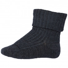 Mp-Danmark uld sokker med ombuk. Mørkegrå.