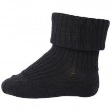 Mp-Danmark uld sokker med ombuk. Mørkeblå.
