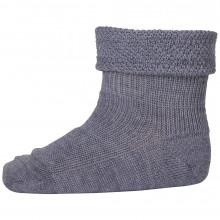 Mp-Denmark uld sokke m-ombuk. Mørkegrå.