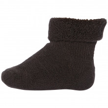 Mp-Danmark baby sokker i uld frotté. Mørke brune.