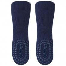 GoBabyGo Skridsikre sokker i bambus. Navy.