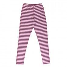 Joha leggings -Til de store i 95% merinould. Rosa stribet.
