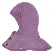 Joha Soft Wool elefanthue m-ører i 100% uld. Lilla.