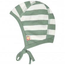 Katvig hjelm i økologisk bomuld. Grøn strib.