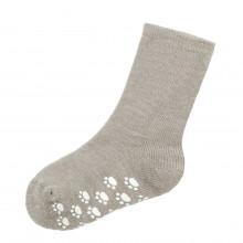 Joha skridsikre uld sokker 90% uld. Beige melange