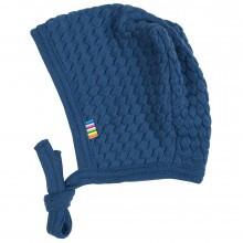 Joha strik hjelm i 100% uld. Blå.
