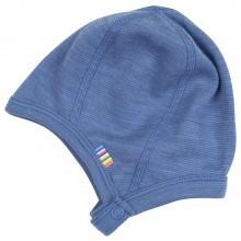 Joha hjelm i m-knap lukning i 95% uld. Blå.