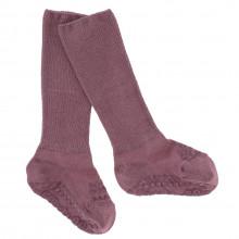 GoBabyGo Skridsikre sokker i bambus - Misty Plum