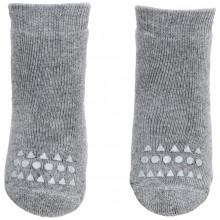 GoBabyGo Skridsikre sokker i bomuld. Lysegrå.