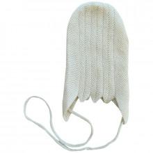 Engel hjelm i 100% silke. Råhvid.