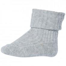 Mp-Danmark sokker med ombuk i bomuld. Lysegrå.