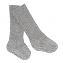 GoBabyGo Skridsikre sokker i bambus - Grey Melange