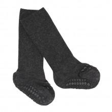 GoBabyGo Skridsikre sokker i bambus - Dark Grey Melange