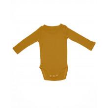Yggdrasil Studios Langærmet Uld Body - Varm gul