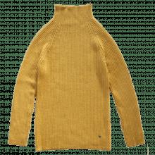 Esencia rib sweater til damer i 100% alpaka uld. Karry gul.