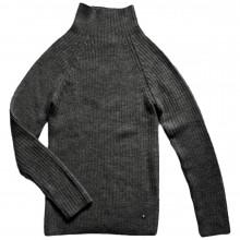 Esencia rib sweater til damer i 100% alpaka uld. Mørkegrå.