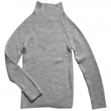Esencia rib sweater til damer i 100% alpaka uld. Lysegrå.