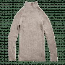 Esencia rib sweater til damer i 100% alpaka uld. Lysebrun.