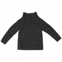 Esencia rib sweater i 100% alpaka uld. Mørkegrå.
