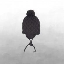 Shirley Bredal smock baby hat. Mørkebrun.