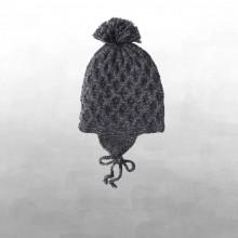 Shirley Bredal smock baby hat. Mørkegrå.