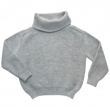Esensia dame sweater i 100% alpakauld. Lysegrå.